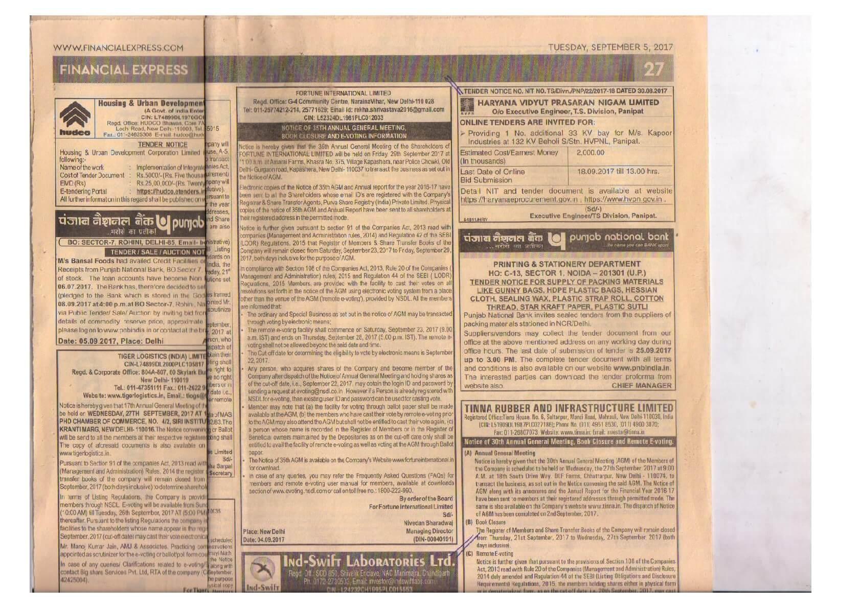 AGM Newspaper cutting-English-2017